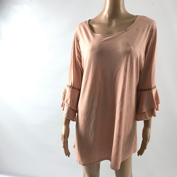 Lildy Tops - Lildy Women's Tunic Top High Scoop Neck Size L-XL